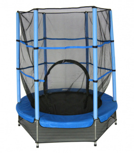 AMIGO trampoline with safety net blue 139 cm