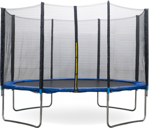 AMIGO trampoline with safety net blue 427 cm
