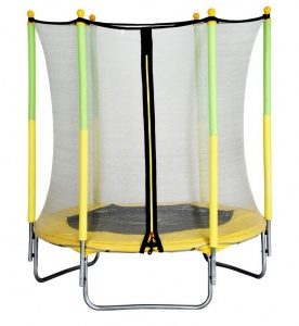 AMIGO trampoline with safety net yellow 139 cm