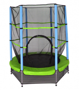 AMIGO trampoline with safety net light green 139 cm