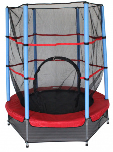 AMIGO trampoline with safety net Red 139 cm