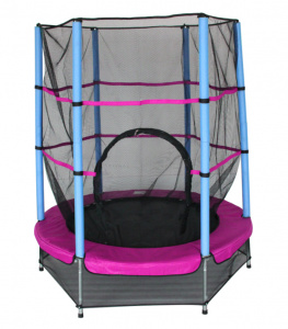 AMIGO trampoline with safety net pink 139 cm