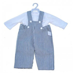 Amleg overall met blouse mini mommy wit 33-37 cm