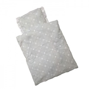 Amleg poppen beddengoed mini mommy meisjes wit 33 x 28 cm