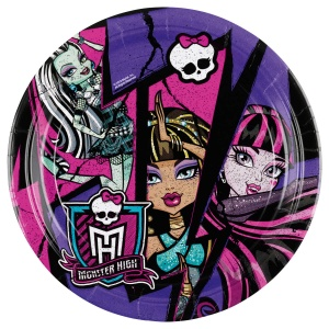 Amscan plates Monster High multicolor 23 cm