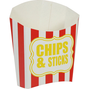 Amscan party-Box Chips & Sticks Papier rot/weiss