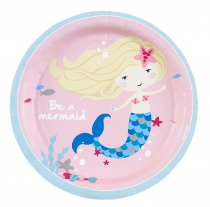 Amscan party signs Be a Mermaid 18 cm 8 pieces
