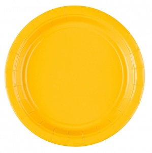 Amscan party plates yellow 17,7 cm 8 pieces cardboard