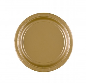 Amscan party plates gold 17,7 cm 8 pieces cardboard