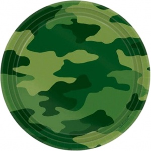 Amscan party boards camouflage 18 cm 8 pieces