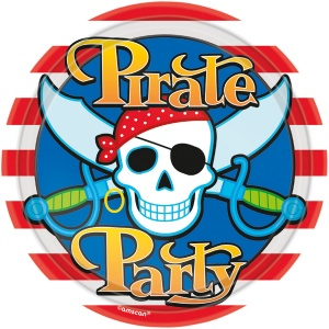 Amscan party plates pirate 23 cm 8 pieces