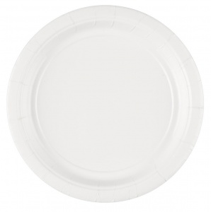 Amscan party plates white 17,7 cm 8 pieces cardboard