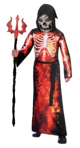 Amscan costume Fire Reaperjunior black/red 8-10 years 4-piece