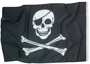 Amscan pirate flag 92 x 60 cm polyester black