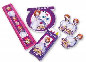 Amscan Sofia the First writing set 20-piece pink/purple