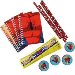 Amscan Spider-Man writing set 16-piece red/blue