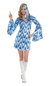 Amscan costume Disco Lady blue 2-piece