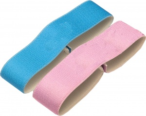 Amuse elastic bands for bread bin 15,5 cm pink/blue 2 pieces