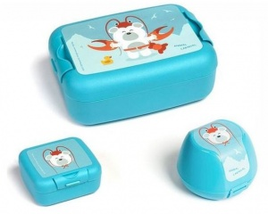 Amuse lunch set Animal Carnivaljunior blue 3-piece