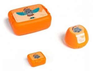 Amuse lunch set Animal Carnivaljunior orange 3-piece