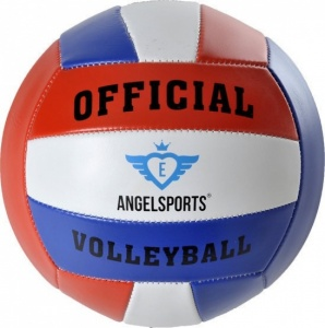 Angel Sports beachvolleybal kunstleer maat 5 rood/wit/blauw