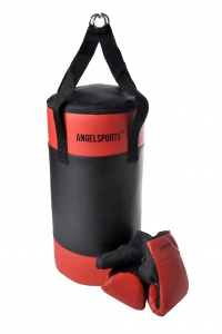 Angel Sports Boksthuistrainingsset junior zwart/rood