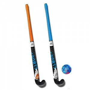 Angel sports hockeyset 3-delig oranje/blauw 34 inch