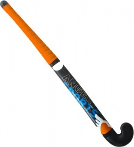 Angel sports Streethockeystick 28 inch 23 mm zwart/oranje