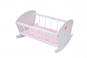 Angel Toys dolls rocking bed 50 x 30 x 40 cm wood white