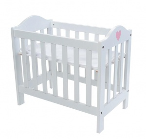 Angel Toys adjustable doll's bed 49 x 29.5 x 44.5 cm wood white