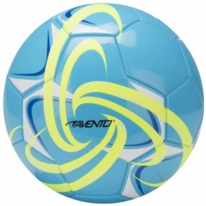 Avento Voetbal Glossy PVC Fluor Maat 5 Blauw / Geel