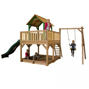 AXI Atka playhouse with single swing 291 x 540 cm