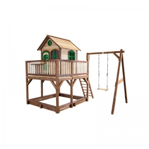 AXI Liam Playhouse with single swing 291 x 540 cm