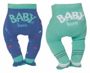 BABY born collant Trend43 cm double pack vert/bleu