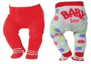 BABY born collant Trend43 cm double pack rouge/gris