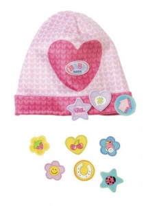 BABY born hat with funny pins 43 cm pink