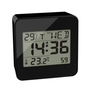 Balvi alarm clock digital 7.2 cm LCD ABS black