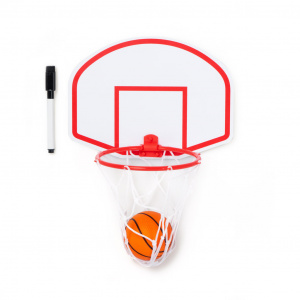 Balvi memobord Basketbal junior 28 cm wit/rood 3-delig