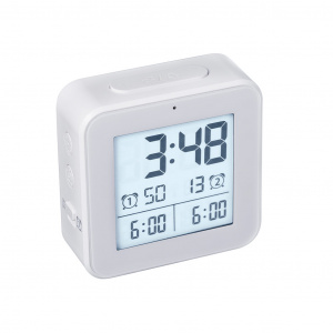 Balvi alarm clock digital 8.2 cm LCD ABS white