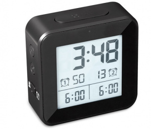 Balvi alarm clock digital 8.2 cm LCD ABS black