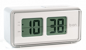 Balvi alarm clock digital LCD 12.5 cm ABS white