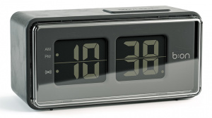 Balvi alarm clock digital LCD 12.5 cm ABS black