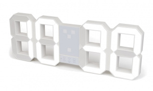 Balvi alarm clock Digital 6.4 x 45.1 cm white ABS 2-part