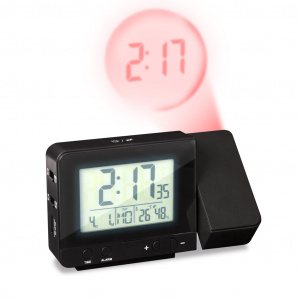 Balvi alarm clock with projector 8.4 x 13.5 cm ABS black