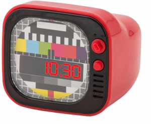 Balvi alarm clock TV junior 8 x 9 cm ABS red