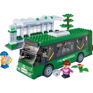 BanBao bouwpakket Transportation Shuttle Bus 372-delig