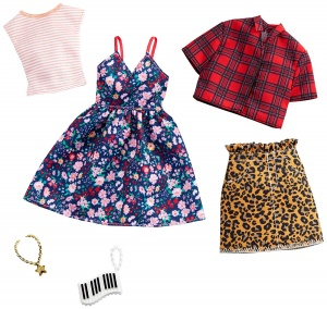 Barbie dress set teen doll skirt and flower dress 2-piece