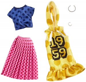 Barbie dress set teen doll skirt and dress dots 2-piece