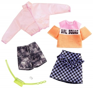 Barbie clothing set teen doll skirt and shorts 2-piece