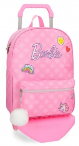 Barbie soft trolley 22 liter roze